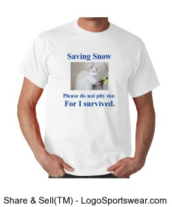 Saving Snow Blue Design Zoom