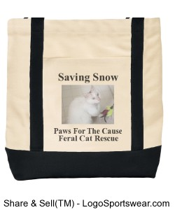 Saving Snow tote bag Design Zoom