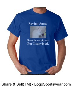 Saving Snow Blue/White Design Zoom